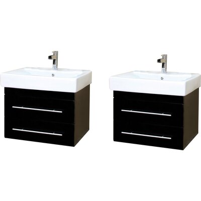 Pickering 49 Double Wall-Mounted Bathroom Vanity Set