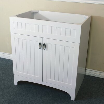 31 Single Bathroom Vanity Base Base Finish: White
