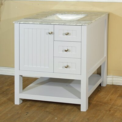 29 Single Bathroom Vanity Base Base Finish: White