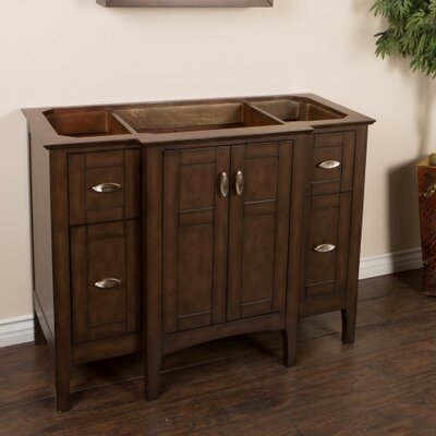 44 Single Bathroom Vanity Base Base Finish: Sable Walnut