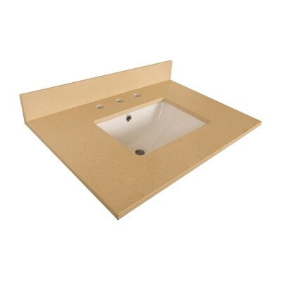 30 Single Bathroom Vanity Top Top Finish: Beige Quartz