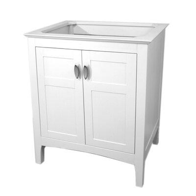 29 Single Bathroom Vanity Base Finish: White