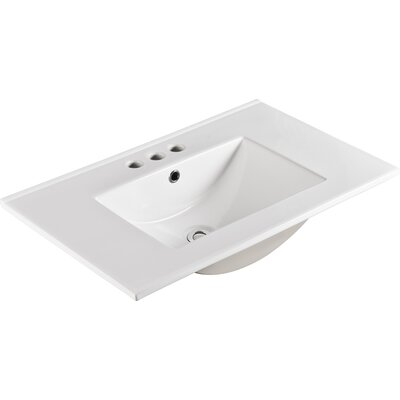 Ceramic 30 Single Bathroom Vanity Top
