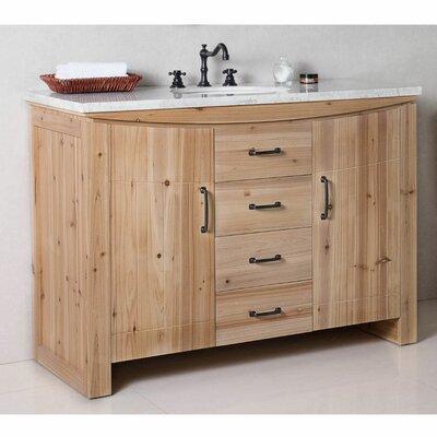 48 Single Bathroom Vanity Set Top Finish: White