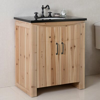 30 Single Bathroom Vanity Set Top Finish: Black