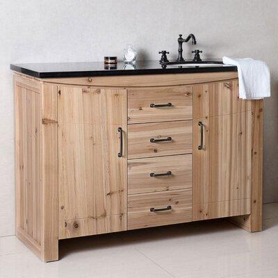 48 Single Bathroom Vanity Set Top Finish: Black