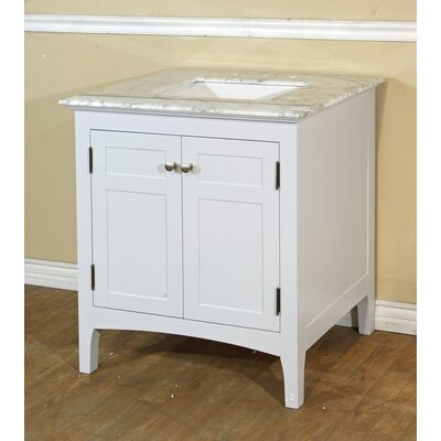 30 Single Bathroom Vanity Set Base Finish: White