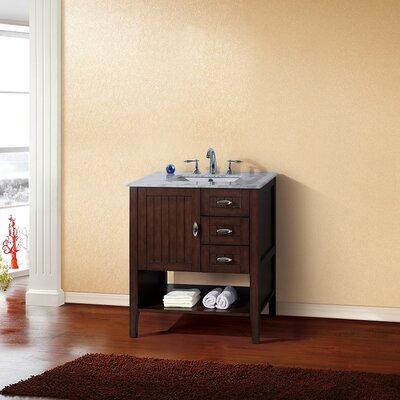 30 Single Bathroom Vanity Set Base Finish: Sable Walnut