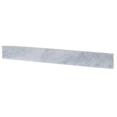 4 x 30 Marble Backsplash Tile in White