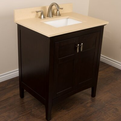 30 Single Bathroom Vanity Set Top Finish: Cream