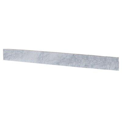 4 x 45 Marble Backsplash Tile in White