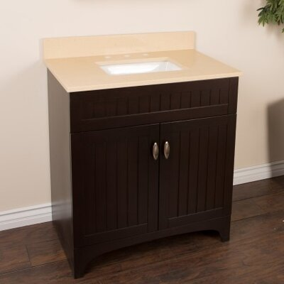 32 Single Bathroom Vanity Set Top Finish: Cream