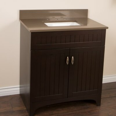 32 Single Bathroom Vanity Set Top Finish: Taupe