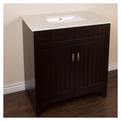 32 Single Bathroom Vanity Set Base Finish: Sable Walnut