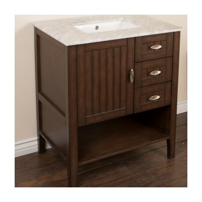 30 Single Bathroom Vanity Set Base Finish: Sable Walnut
