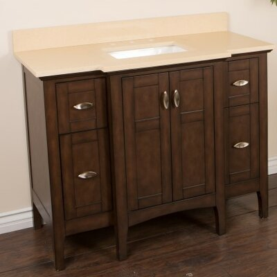 45 Single Bathroom Vanity Set Top Finish: Cream