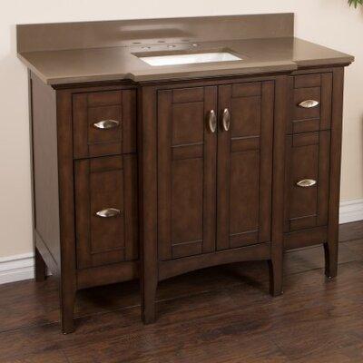 45 Single Bathroom Vanity Set Top Finish: Taupe