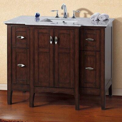 45 Single Bathroom Vanity Set Base Finish: Sable Walnut