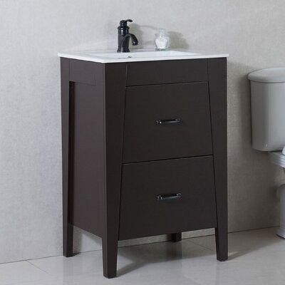 24 Single Bathroom Vanity Set Base Finish: Espresso