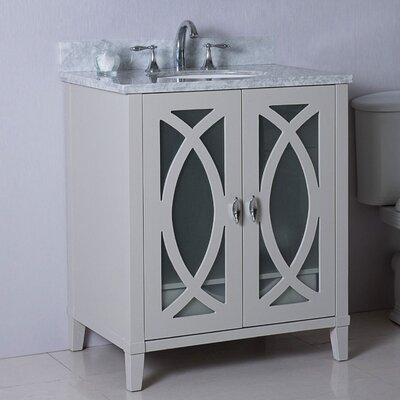 30 Single Bathroom Vanity Set Top Finish: White