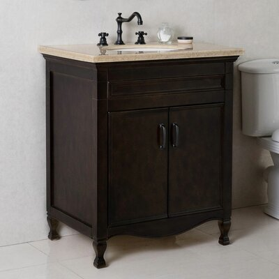 30 Single Bathroom Vanity Set Top Finish: Cream