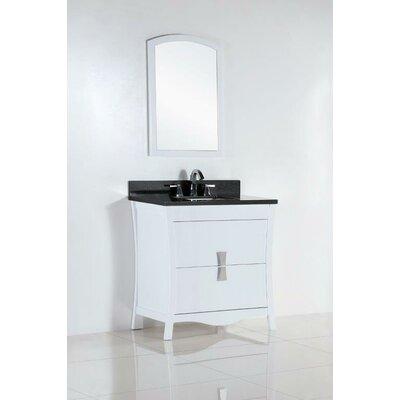 30 Single Bathroom Vanity Set Top Finish: Black Galaxy