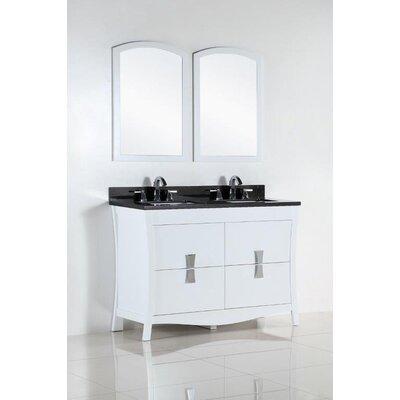 48 Double Bathroom Vanity Set Top Finish: Black Galaxy
