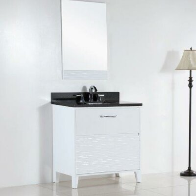 30.4 Single Sink Bathroom Vanity Set Top Finish: Black Galaxy