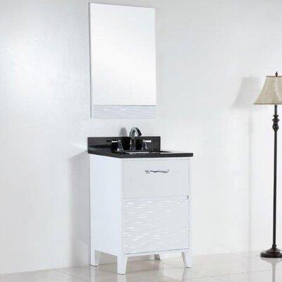 24.5 Single Sink Bathroom Vanity Set Top Finish: Black Galaxy
