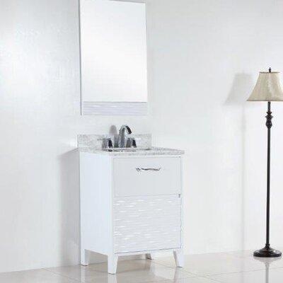 24.5 Single Sink Bathroom Vanity Set Top Finish: White Carrara