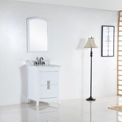 24 Single Bathroom Vanity Set Top Finish: White Carrara