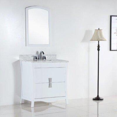 30 Single Bathroom Vanity Set Top Finish: White Carrara