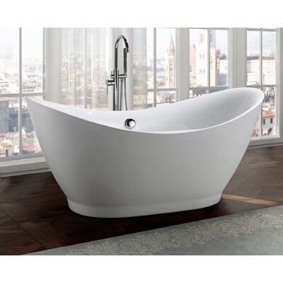 Salerno 68 x 32 Freestanding Soaking Bathtub