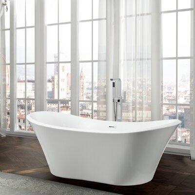 Ancona 71 x 31.5 Freestanding Soaking Bathtub