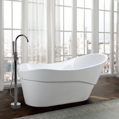 Bari 67 x 32 Freestanding Soaking Bathtub