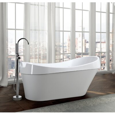 Barletta 69 x 31 Freestanding Soaking Bathtub