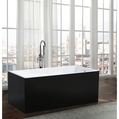 Brindisi 59.1 x 29.5 Freestanding Soaking Bathtub
