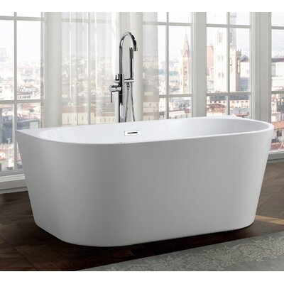 Calabria 59 x 30 Freestanding Soaking Bathtub