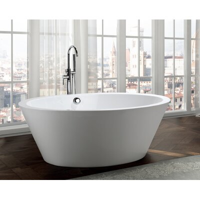 Udine 67 x 43.3 Freestanding Soaking Bathtub