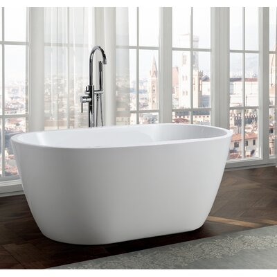 Genoa 59 x 30 Freestanding Soaking Bathtub