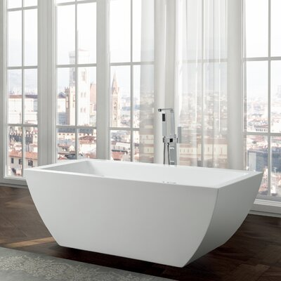 Livorno 59 x 30 Freestanding Soaking Bathtub