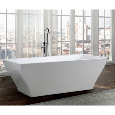 Messina 71 x 32 Freestanding Soaking Bathtub