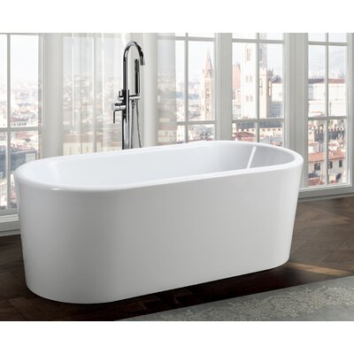 Padua 63 x 28 Freestanding Soaking Bathtub