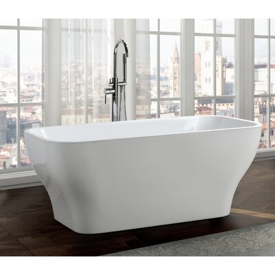 Novara 59 x 28 Freestanding Soaking Bathtub