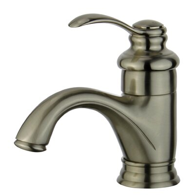 Barcelona Deck Single Handle Bathroom Faucet with Drain Assembly Finish: Brushed Nickel