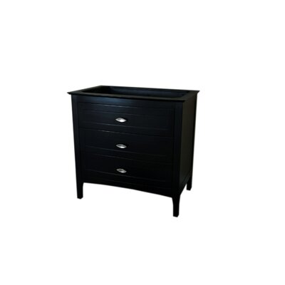 35 Single Bathroom Vanity Base Base Finish: Espresso