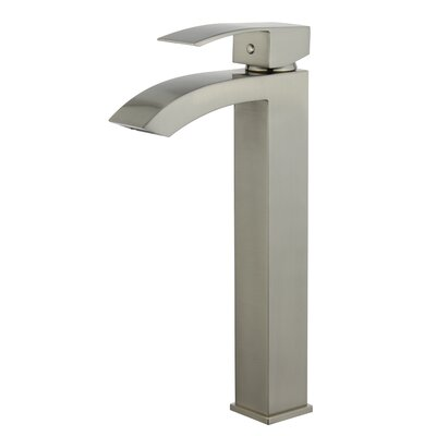 Palma Single Hole Single Handle Bathroom Faucet with Drain Assembly Finish: Brushed Nickel