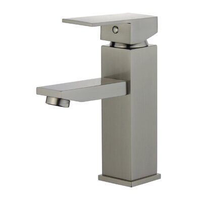 Granada Single Hole Single Handle Bathroom Faucet with Drain Assembly Finish: Brushed Nickel