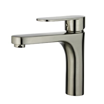 Donostia Single Handle Bathroom Faucet with Drain Assembly Finish: Brushed Nickel