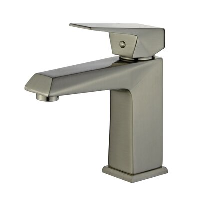 Valencia Single Handle Bathroom Faucet with Drain Assembly Finish: Brushed Nickel